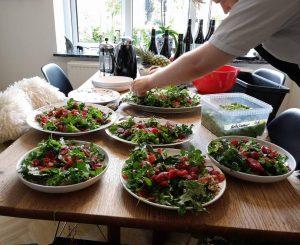 Delemad, salatanretning